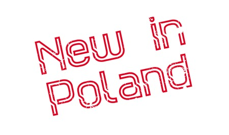 New In Poland rubber stamp Ilustrace