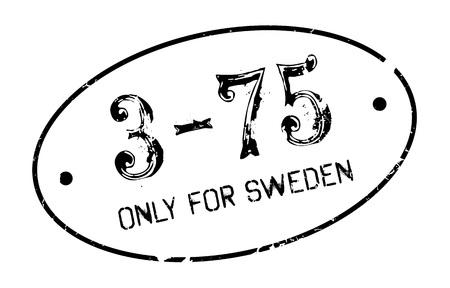 Only For Sweden rubber stamp Illustration