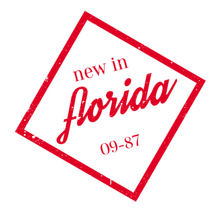 jacksonville: New In Florida rubber stamp Illustration