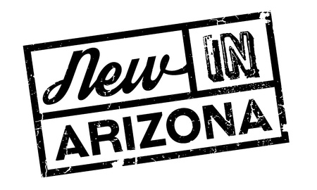 New In Arizona rubber stamp