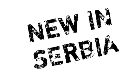 New In Serbia rubber stamp Иллюстрация