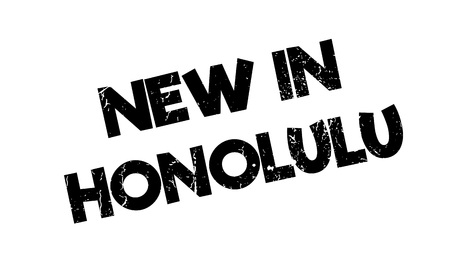 New In Honolulu rubber stamp