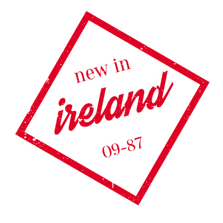 New In Ireland rubber stamp