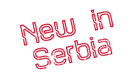 New In Serbia rubber stamp Illustration