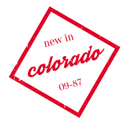New In Colorado rubber stamp Stock Vector - 77348460