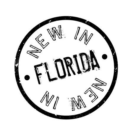 New In Florida rubber stamp Imagens - 77348475