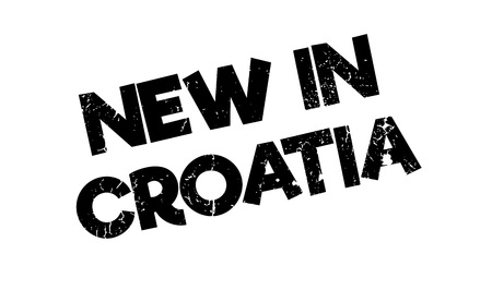 New In Croatia rubber stamp