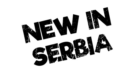 serb: New In Serbia rubber stamp Illustration