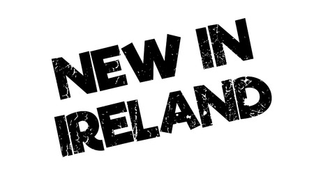 belfast: New In Ireland rubber stamp