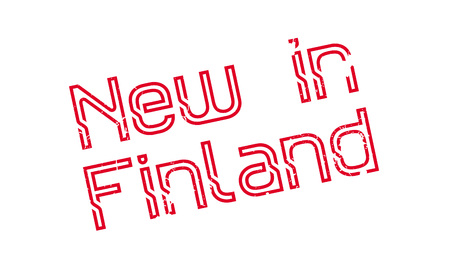 New In Finland rubber stamp