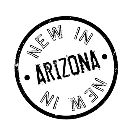 verde: New In Arizona rubber stamp. Grunge design with dust scratches. Effects can be easily removed for a clean, crisp look. Color is easily changed. Illustration