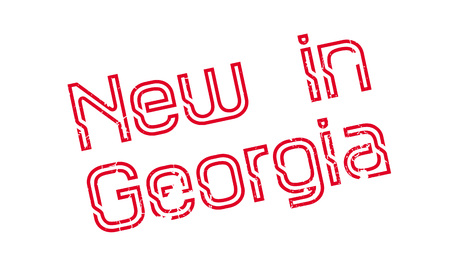 New In Georgia rubber stamp Stock Photo