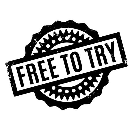 Free To Try rubber stamp