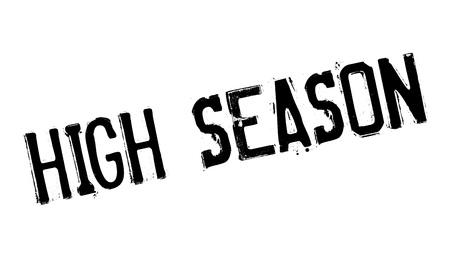 Sello de goma de temporada alta Ilustración de vector