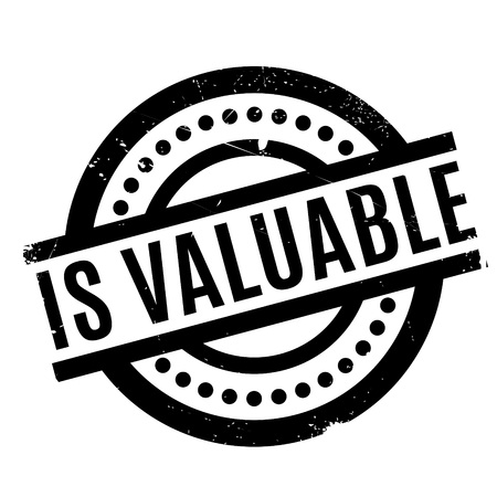 valued: Is Valuable rubber stamp