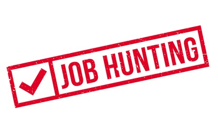credit crunch: Job Hunting rubber stamp