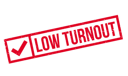 turnout: Low Turnout rubber stamp