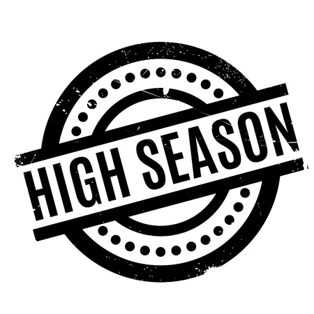 High Season rubber stamp Illustration