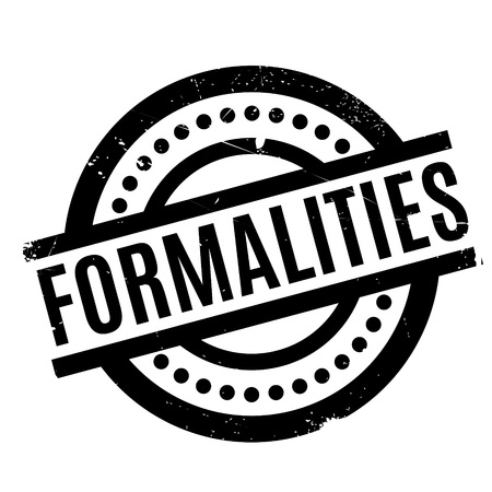Formalities rubber stamp Illustration