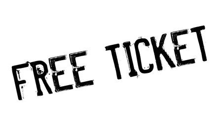 freebie: Free Ticket rubber stamp Illustration