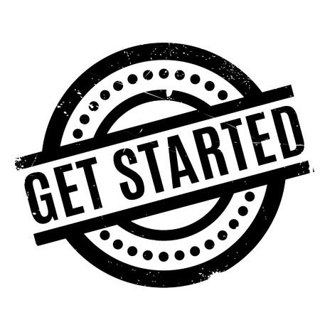 Get Started rubber stamp Illustration