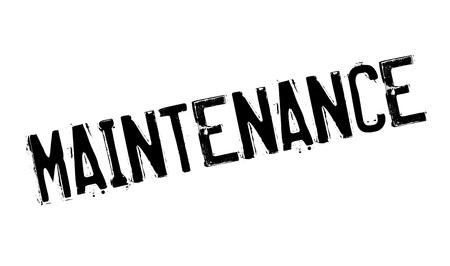 Maintenance rubber stamp