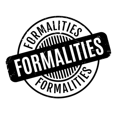 Formalities rubber stamp Vectores