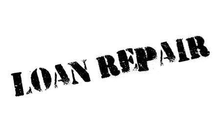 Loan Repair rubber stamp