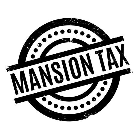 Mansion Tax rubber stamp Illustration