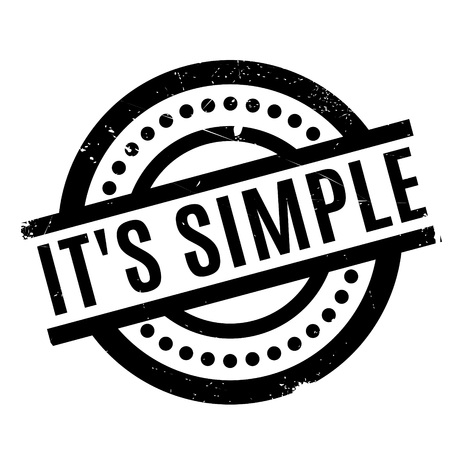 Its Simple rubber stamp