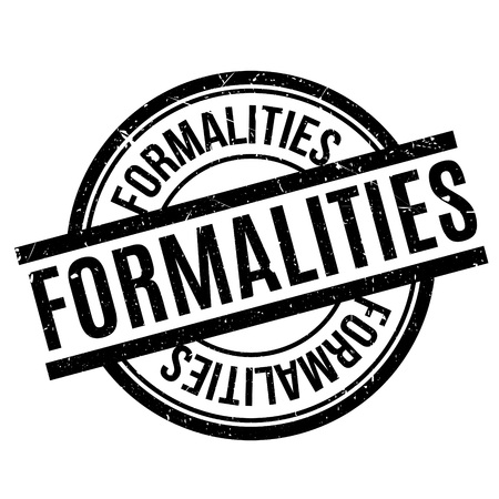 formalities: Formalities rubber stamp Illustration