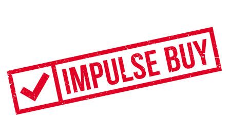 Impulse Buy rubber stamp Vetores