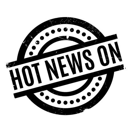 rubberstamp: Hot News On rubber stamp Illustration