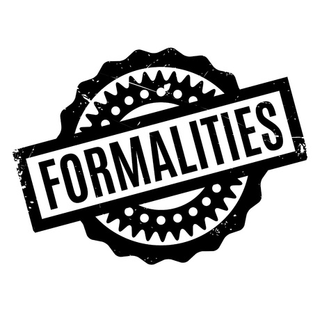 matter: Formalities rubber stamp Illustration