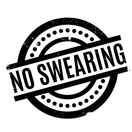No Swearing rubber stamp Stock fotó