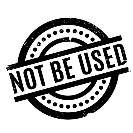 secondhand: Not Be Used rubber stamp