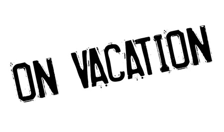 recess: On Vacation rubber stamp