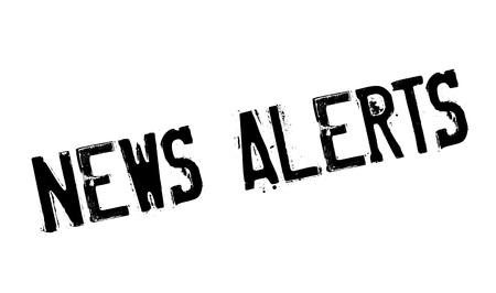News Alerts rubber stamp Illustration