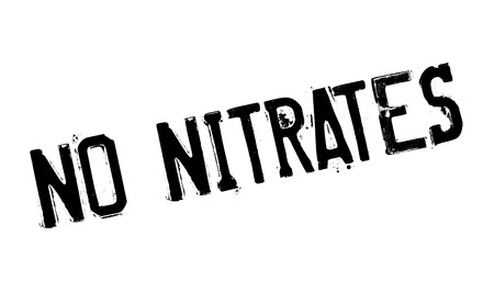 No Nitrates rubber stamp