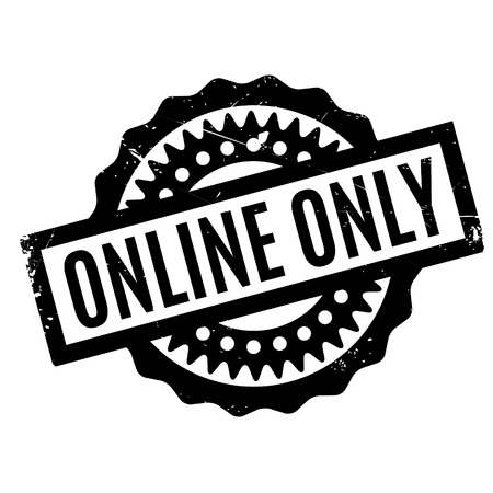 Online Only rubber stamp Stock Vector - 77426617
