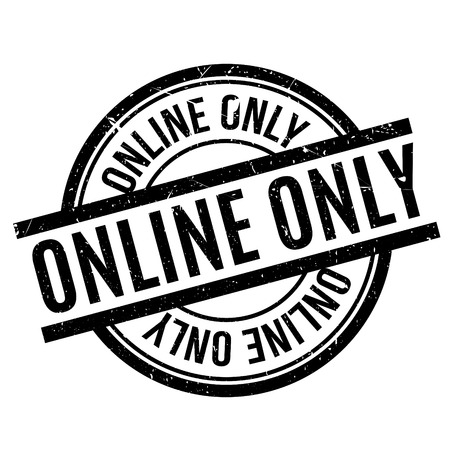 Online Only rubber stamp