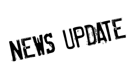 updating: News Update rubber stamp Illustration