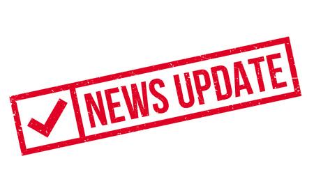 News Update rubber stamp Vektorové ilustrace