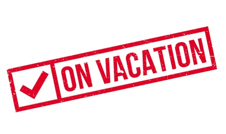 On Vacation rubber stamp