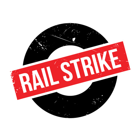 Rail Strike rubber stamp