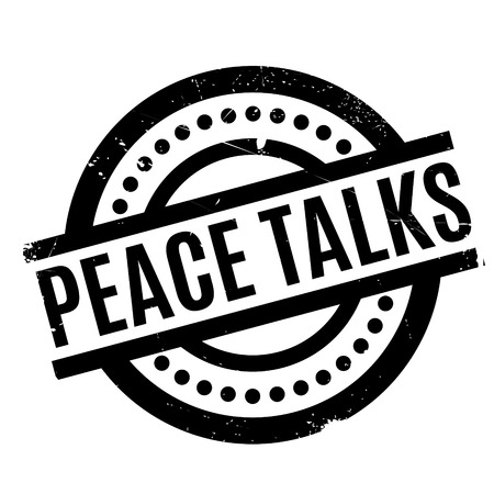 Peace Talks rubber stamp