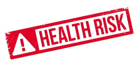 Health Risk rubber stamp Imagens