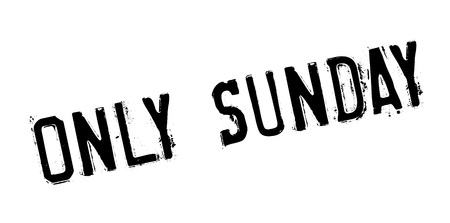 purely: Only Sunday rubber stamp