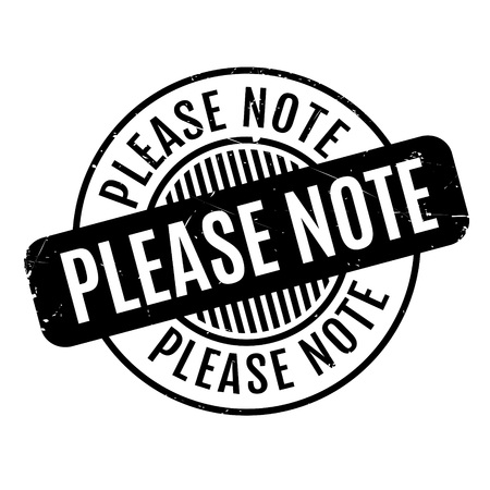 Please Note rubber stamp