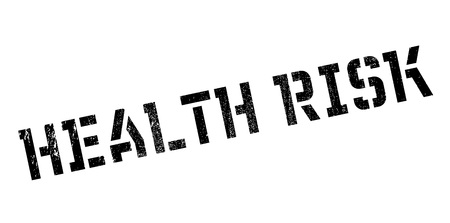 wholeness: Health Risk rubber stamp Stock Photo